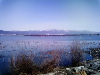 琵琶湖で〜す